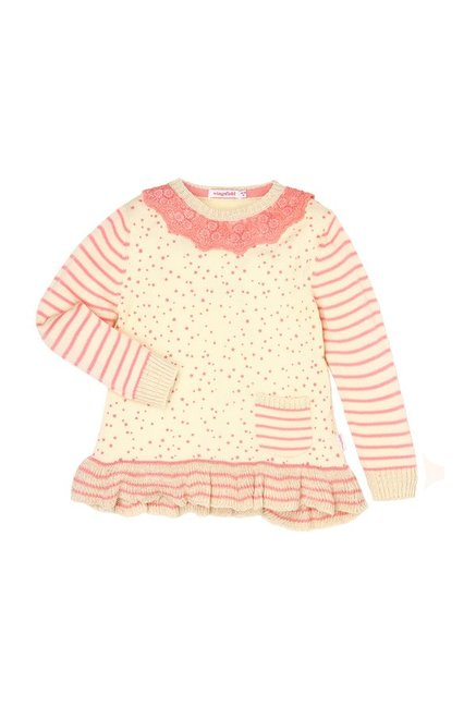1b229e137 Buy Wingsfield Kids Yellow Striped Sweater for Infant Girls Clothing ...