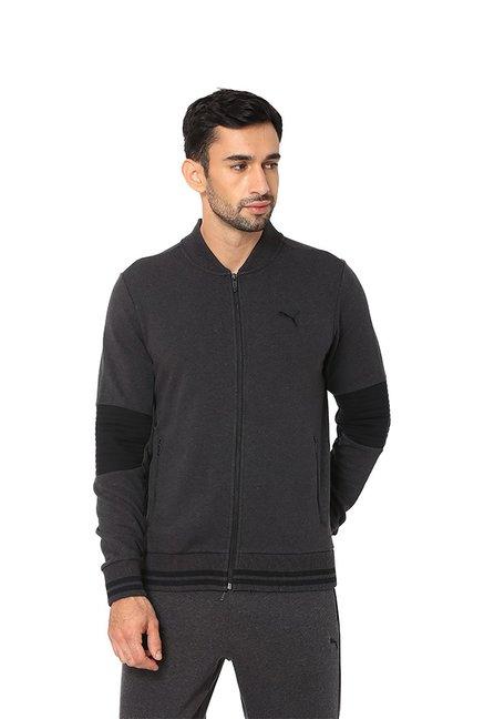 dbbb2885b4b5 Buy Puma One8 Dark Grey V Neck Sweatshirt for Men s Online   Tata CLiQ