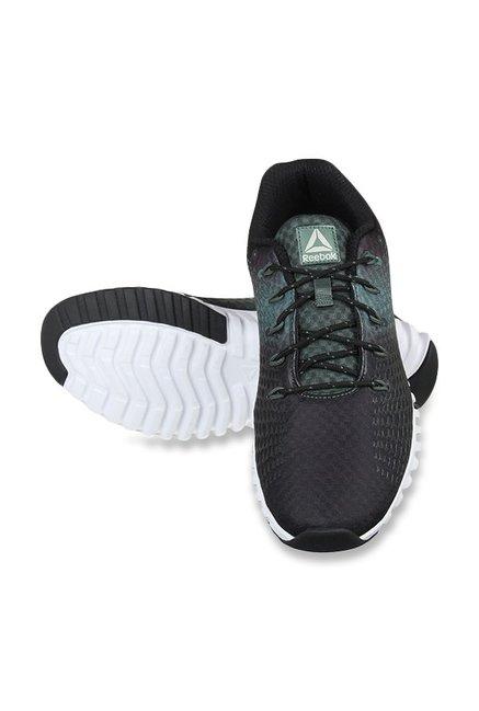 lähemmäs tulokas suunnittelija muoti Buy Reebok Elite Runner LP Black & Chalk Green Running Shoes ...