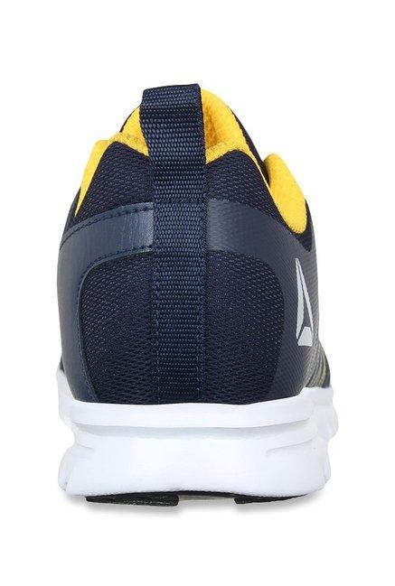 Buy Reebok Pulse Run Xtreme LP Navy   Yellow Running Shoes for Men ... 2c66a59f4