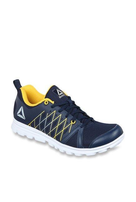 Buy Reebok Pulse Run Xtreme LP Navy   Yellow Running Shoes for Men at Best  Price   Tata CLiQ 33f0cfcb8