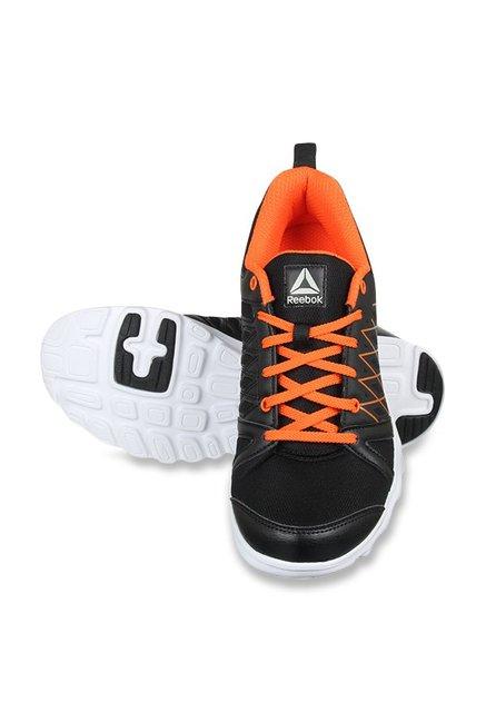 Buy Reebok Pulse Run Xtreme LP Black   Bright Lava Running Shoes for ... 8820d2d21