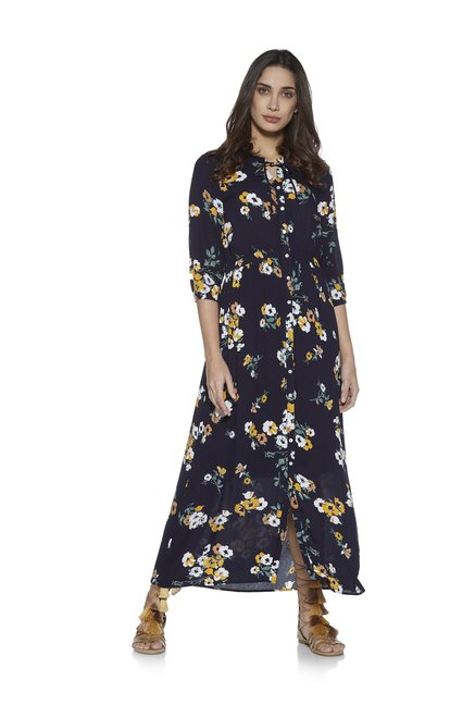 0bcce95c6cb LOV by Westside Navy Diana Floral Print Maxi Dress