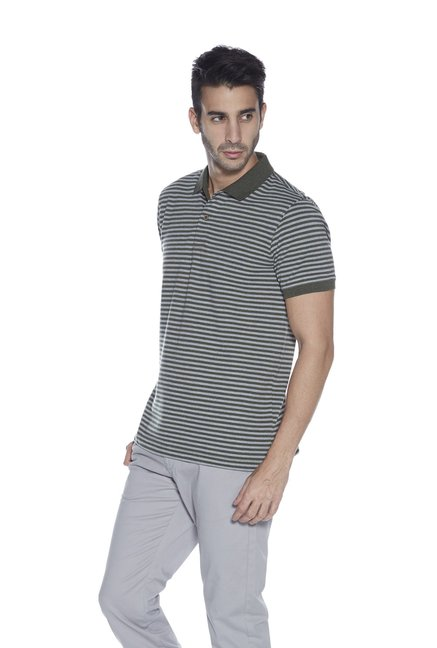 b1520650de75 Buy Westsport Mens by Westside Grey Slim Fit Polo Neck T-Shirt for Men  Online @ Tata CLiQ