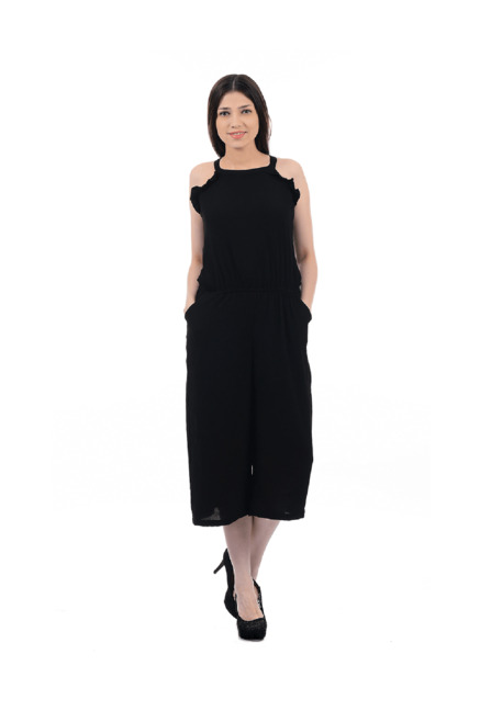 e9eb9afa35 Buy Pepe Jeans Black Midi Dress for Women Online   Tata CLiQ