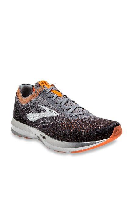 3be59907b8d Buy Brooks Levitate 2 Light Grey   Orange Running Shoes for Men at Best  Price   Tata CLiQ