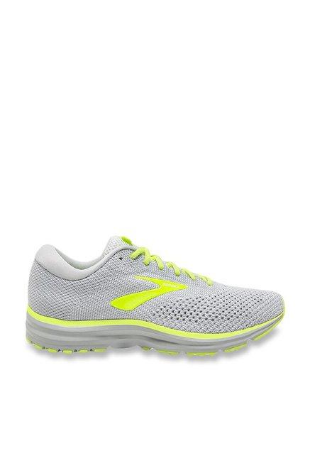 2e93fc0ed797a Buy Brooks Revel 2 Light Grey Running Shoes for Men at Best Price ...