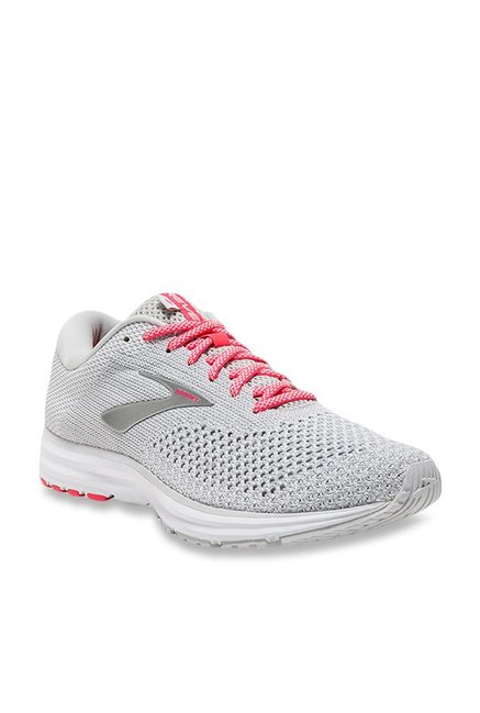 19379c574c01c Buy Brooks Revel 2 Light Grey Running Shoes for Women at Best Price   Tata  CLiQ