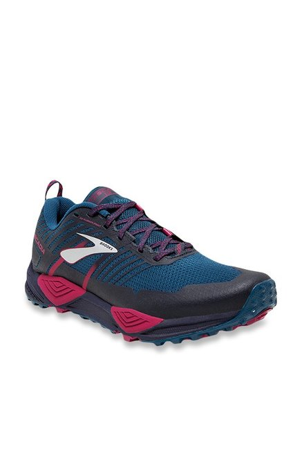 b48d4968312 Buy Brooks Cascadia 13 Ink Blue   Navy Running Shoes for Women at Best Price    Tata CLiQ