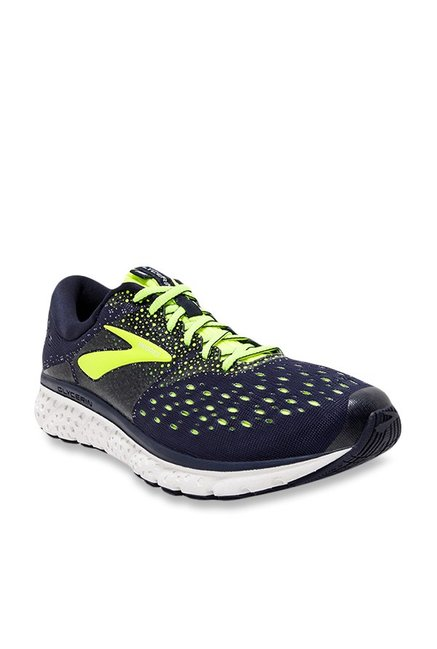 100% authentic be1e0 acfe3 Buy Brooks Glycerin 16 Navy & Lime Green Running Shoes ...