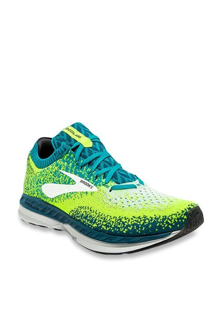 c9efa0c4f7d45 Buy Brooks Bedlam Lime Green   Turquoise Running Shoes for ...