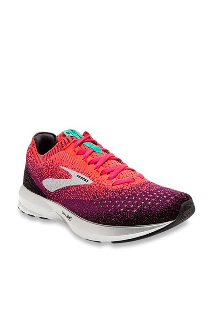 28aea4983d2 Buy Brooks Levitate 2 Coral   Purple Running Shoes for Women at Best Price    Tata CLiQ