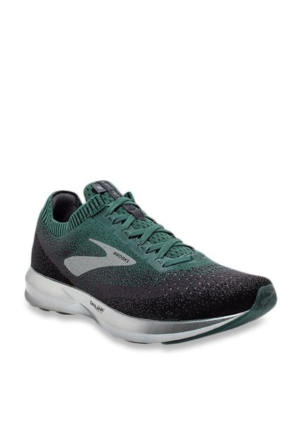f6aadc53aa1 Buy Brooks Levitate 2 Black   Teal Green Running Shoes for Men at ...
