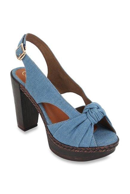 6f5db10dc50c Buy Catwalk Denim Blue Back Strap Sandals for Women at Best Price   Tata  CLiQ