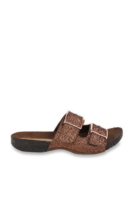 033059cca67e Buy Catwalk Bronze Casual Sandals for Women at Best Price   Tata CLiQ
