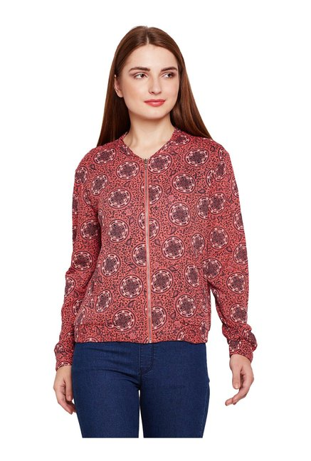Oxolloxo Coral Printed Bomber Jacket