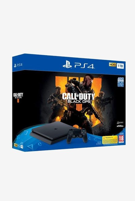 Sony PS4 Slim 1TB Console with Call of Duty Black OPS (Black)