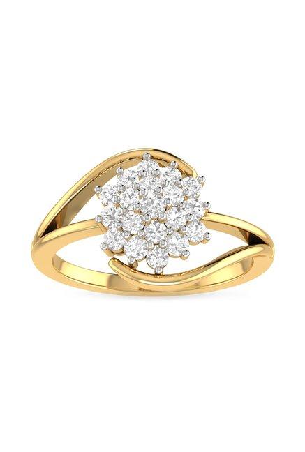 efabd5d53 Buy PC Jeweller Ishtar 18 kt Gold & Diamond Ring Online At Best Price @  Tata CLiQ