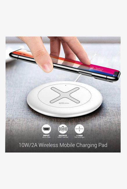 Portronics Toucharge X POR 897 10W/2A Wireless Mobile Charging Pad  White