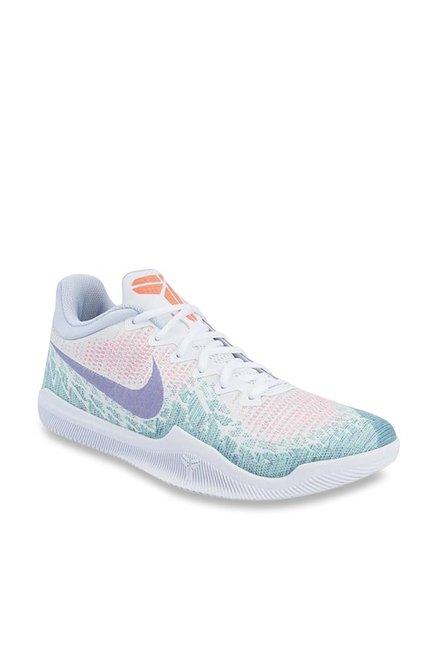 515e2d858d82 Buy Nike MAMBA RAGE White   Hyper Grape Basketball Shoes for Men at Best  Price   Tata CLiQ