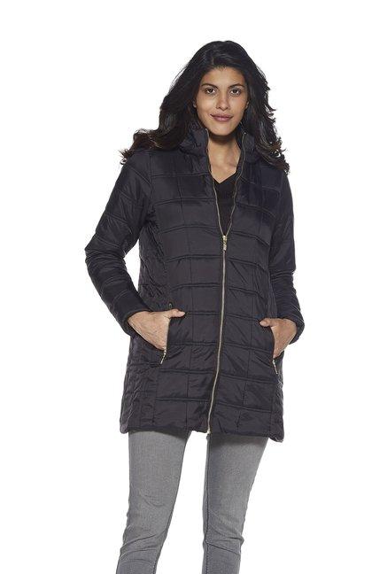 6f466942c Buy LOV by Westside Black Rini Puffer Hooded Jacket for Women Online ...