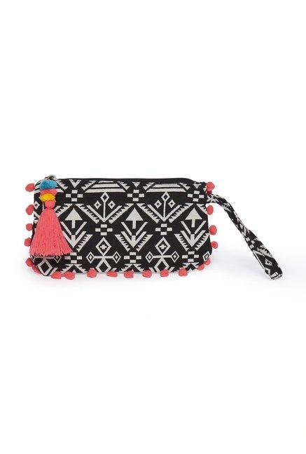 f41aaa165 Buy Westside Black Aztec Print Pouch for Women Online   Tata CLiQ