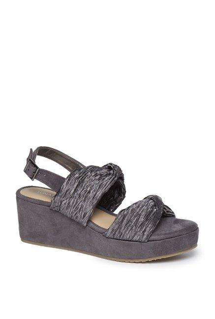 d35c96cd0b6 Buy LUNA BLU by Westside Grey Wedge Heel Sandals For Women Online At Tata  CLiQ