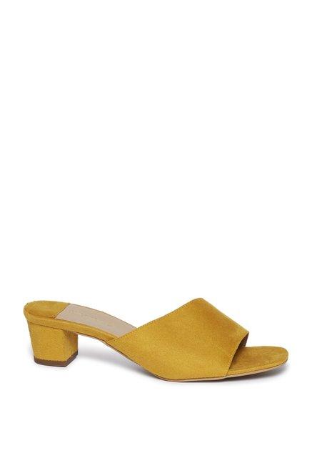 1c40a01d2 Buy LUNA BLU by Westside Yellow Block Heel Sandals For Women Online At Tata  CLiQ