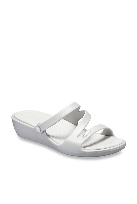08cd7754a Buy Crocs Patricia Silver Casual Wedges for Women at Best Price ...