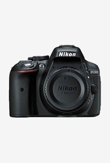 Nikon D5300 DSLR Camera Body Only 16 GB Card Camera Bag  Black