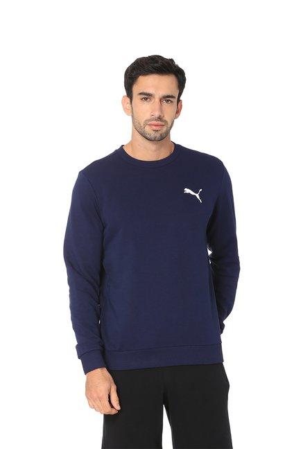 612c3fb41b5a Buy Puma Navy Round Neck Sweatshirt for Men s Online   Tata CLiQ
