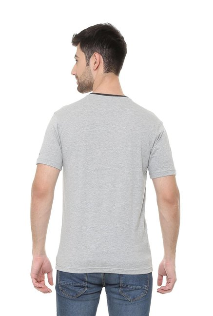 80267b4308 Buy Van Heusen Grey V Neck T-Shirt for Men Online   Tata CLiQ