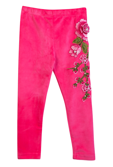 b67795b1 Buy LilPicks Kids Magenta Embroidered Leggings for Girls Clothing ...