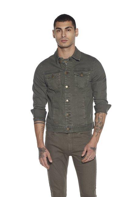 83015d12 Buy Nuon by Westside Olive Slim Fit Jacket for Men Online @ Tata CLiQ