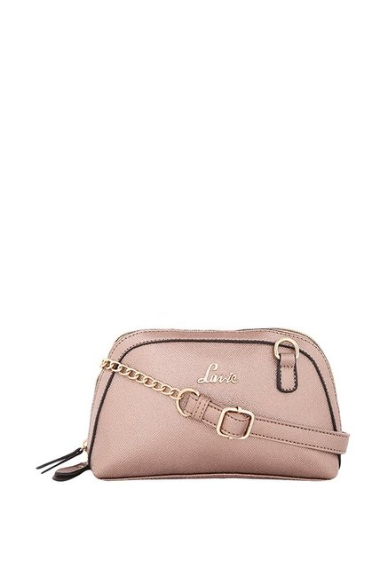 5aa28a85d87 Buy Lavie Onora Rose Gold Solid Sling Bag For Women At Best Price ...