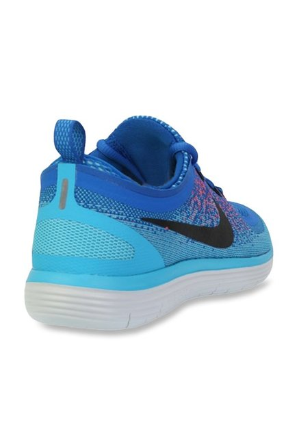 super popular 8f071 473a3 Buy Nike Free RN Distance 2 Blue Running Shoes for Men at ...