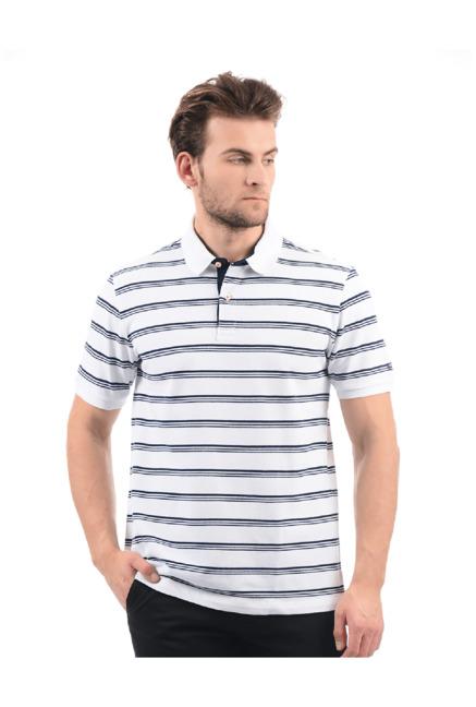 2365f8c1 Buy Arrow Sport White Cotton Polo T-Shirt for Men Online @ Tata CLiQ