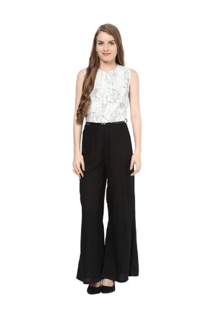 7ff011b62077 Buy 109 F Off White   Black Printed Full Length Jumpsuit for Women ...