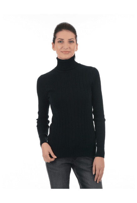 895944d2d0 Buy Pepe Jeans Black Turtle Neck Sweater for Women Online   Tata ...