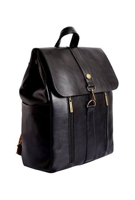 4cbe83fc8 Buy Lino Perros Black Solid Backpack For Women At Best Price   Tata CLiQ