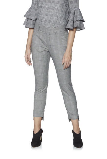 82493ae7d2 Wardrobe by Westside Grey Houndstooth Print Trousers