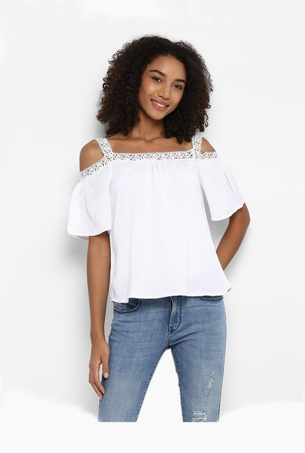 Harpa White Textured Top