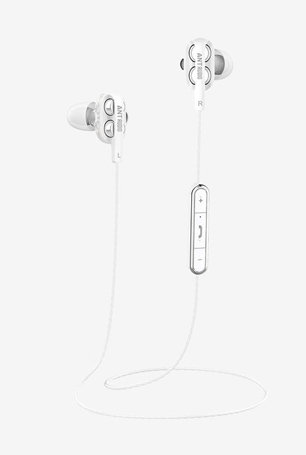 Ant Audio Doble H2 Bluetooth Headset With Mic  White