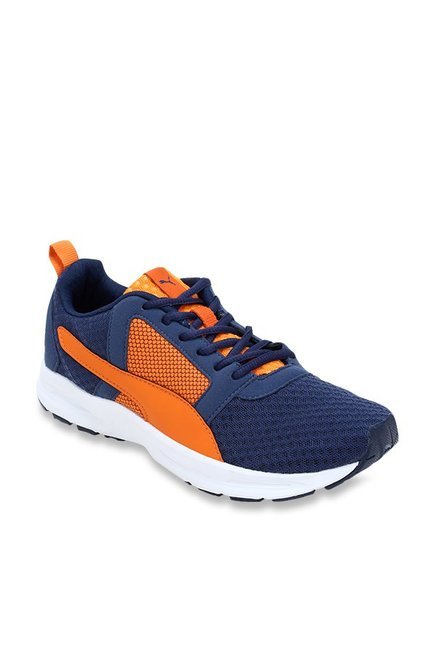 huge discount c35ed 13953 Puma Deng IDP Navy   Orange Running Shoes