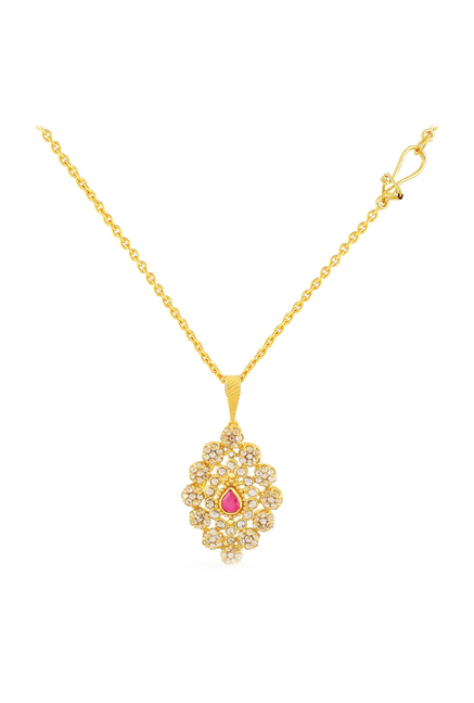 1859af9e4 Buy Malabar Gold and Diamonds Era 22 kt Gold Pendant with Chain Online At  Best Price @ Tata CLiQ