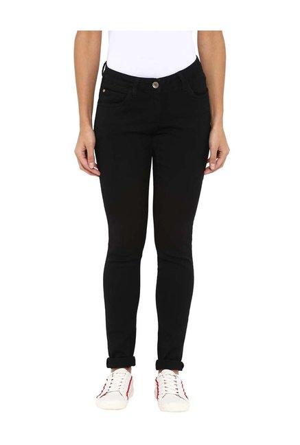 Park Avenue Woman Black Slim Fit Jeans