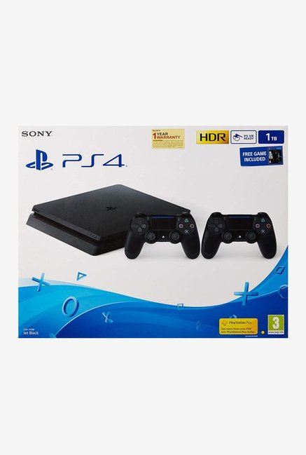 Sony PS4 Slim 1TB Console with TLOU and DS4 (Black)