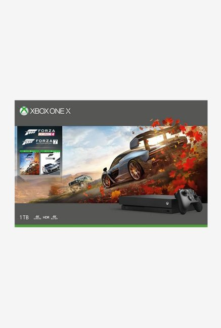 Microsoft Xbox One X 1TB Console with Forza Horizon 4 and Forza Motorsport 7 (Black)