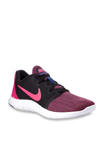 0ad3809036430 Buy Nike Flex Contact 2 Rush Pink   Black Running Shoes for Women at Best  Price   Tata CLiQ