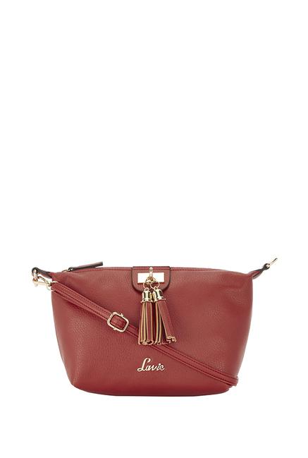 Lavie Marma Red Tassel Sling Bag